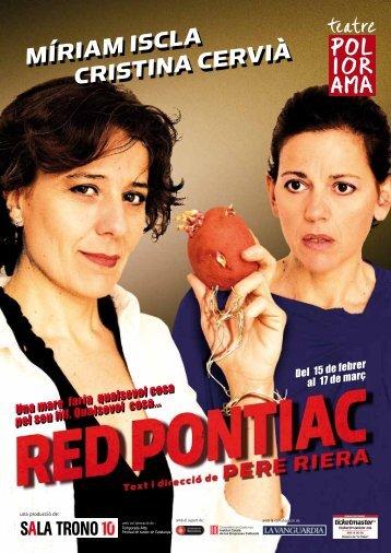 Dossier de premsa RED PONTIAC - Comedia Comunicació & Mèdia