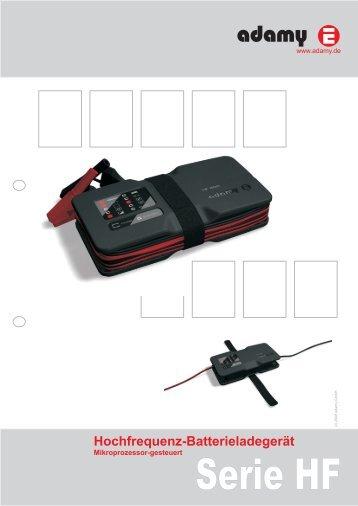 Hochfrequenz-Batterieladegerät - adamy Gmbh