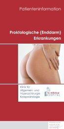 Proktologische (Enddarm) Erkrankungen Patienteninformation