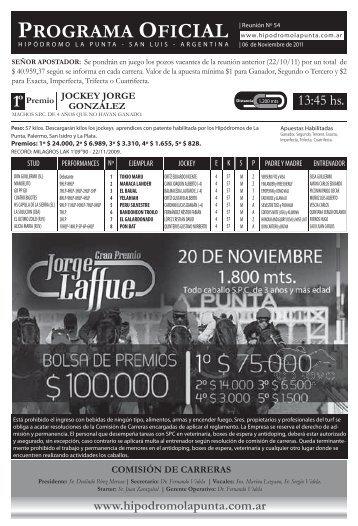 Programa-mEJOR DE LA rECTA.indd - Hipodromo La Punta