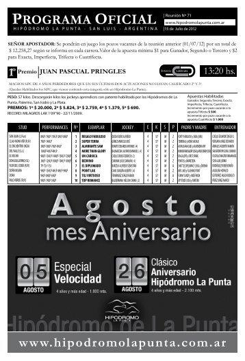 Programa - Hipodromo La Punta
