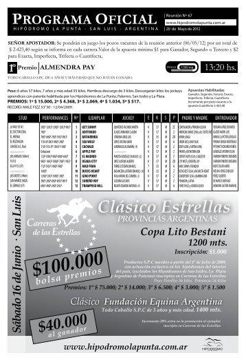 programa 20 mayo - Hipodromo La Punta
