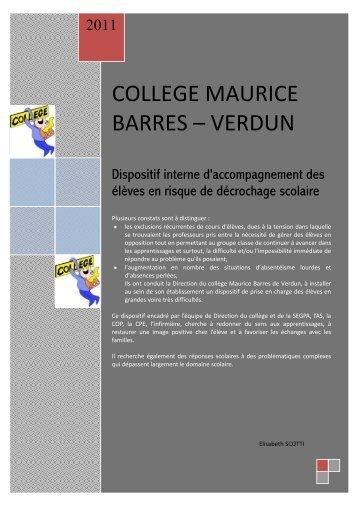 college maurice barres – verdun - Académie de Nancy-Metz