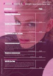 Preisliste Kosmetik - Kristin Kupfer's - Kreative Köpfe