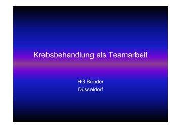 Krebsbehandlung als Teamarbeit (524 kB) - Krebsgesellschaft-NRW