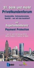 Privatkundenforum - Zeitschrift für das gesamte Kreditwesen
