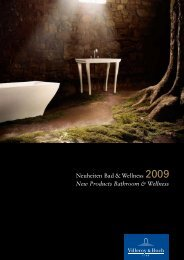Neuheiten Bad & Wellness 2009 New Products ... - Villeroy & Boch