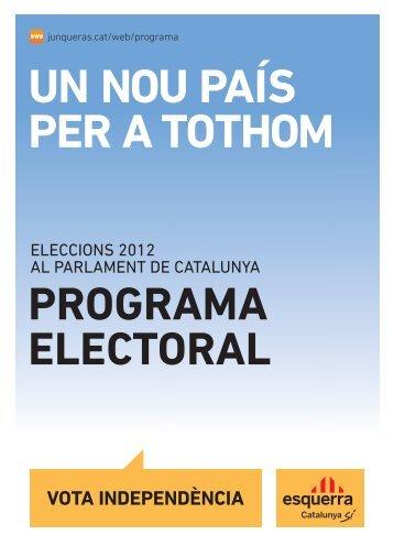 programa electoral - Esquerra Republicana de Catalunya