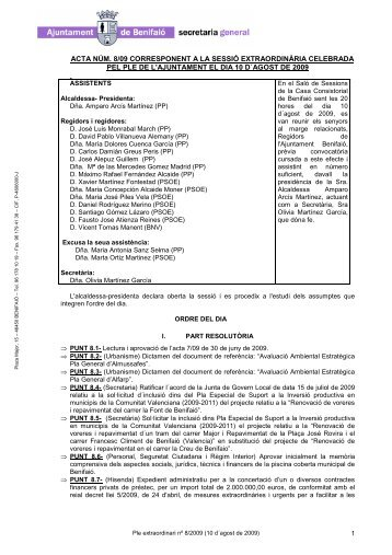 Ple nº 8 _10 d´agost_ - Ayuntamiento de Benifaió