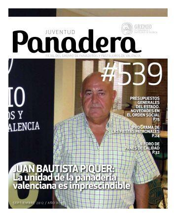 Septiembre 2012 - El Gremio de panaderos y pasteleros de Valencia