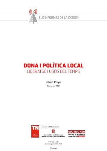 DONA I POLíTICA LOCAL