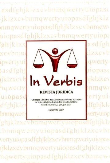 Edição 21 - Revista Jurídica In Verbis