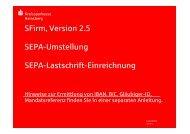 SFirm - SEPA-Umstellung - Kreissparkasse Heinsberg