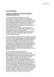 Pressemitteilung Integrationspreis - Kreissparkasse Heinsberg