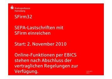 2 2 - SFirm - SEPA-Lastschrift - Kreissparkasse Heinsberg