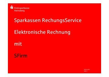 SFirm32 - eRechnung - Kreissparkasse Heinsberg