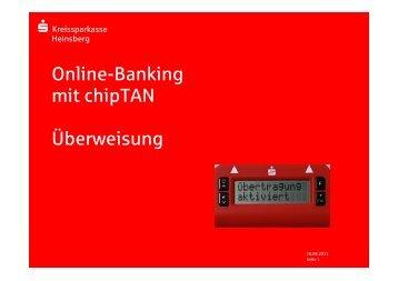 Online-Banking-Überweisung mit chipTAN - Kreissparkasse ...
