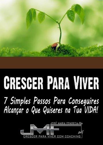 Crescer Para Viver - Coach José Maria Fonseca