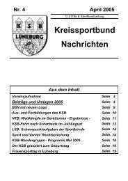 Heft April 2005 - Kreissportbund-Lüneburg