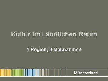 Kultur im Ländlichen Raum - Kreis Steinfurt