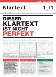 Klartext 1-2011 - Kressin Agentur für Kommunikation