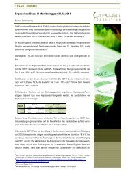 Ergebnisse Basel III Reporting - 1 PLUS i GmbH