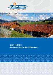 Unsere Leistungen am Mehrfamilien-Passivhaus in Ofterschwang