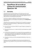 1. OpenPhone 28 raccordé au système de communication - Aastra - Page 7