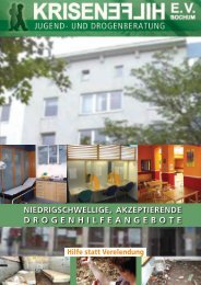 DROGENHILFEANGEBOTE - Krisenhilfe Bochum