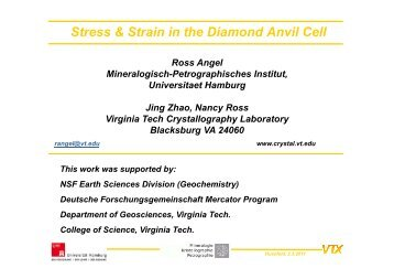 Stress & Strain in the Diamond Anvil Cell