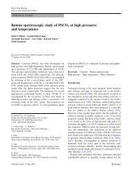 Raman spectroscopic study of PbCO3 at high pressures and ...