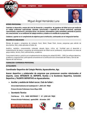 Miguel Ángel Hernández Luna - Bienvenidos Fiesta Soccer ...