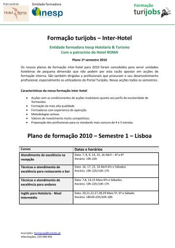 inter-hotel Turijobs by INESP - INESP Hotelaria & Turismo