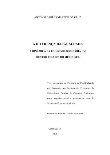 A DIFERENÇA DA IGUALDADE - Universidade Católica de Pelotas
