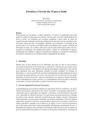 Estrutura e Governo das TI para a Saúde - Repositório do Hospital ...