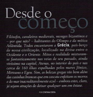 """edição especial - """"europa clássica"""" - Grécia"""