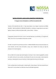 NOSSA SEGUROS LANÇA NOVA IMAGEM CORPORATIVA