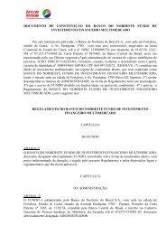 Regulamento Fundo Multimercado v1 - Banco do Nordeste