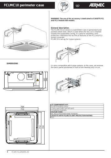 Fan Coil Aermec Omnia Ul N Installation Manual