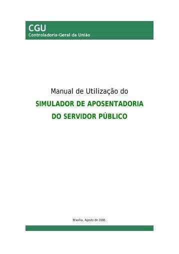 Manual - Controladoria-Geral da União