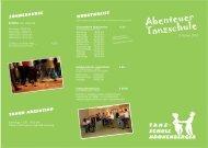 Kursprogramm als PDF-Download - in der Tanzschule Kronenberger