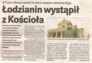Andrzej Onufrzak prasa - wystąpić z Kościoła
