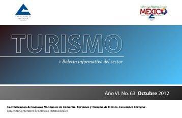 Boletin de Turismo Octubre 2012 Núm. 63 - Concanaco