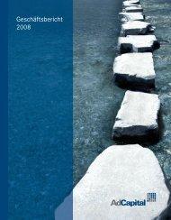 Geschäftsbericht 2008 - Adcapital AG