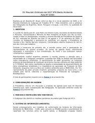 XV Reunión Ordinaria del SGT Nº6 Medio Ambiente Acta Nº 03/00