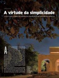 A virtude da simplicidade - Revista Pesquisa FAPESP