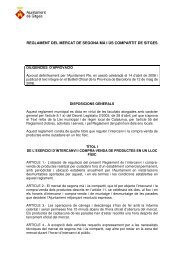 reglament del mercat de segona mà i ús compartit de sitges