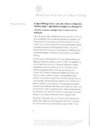 Krupp-Stiftung fördert seit zehn Jahren erfolgreiche Projekte gegen ...