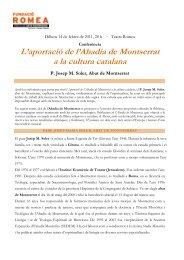 L'aportació de l'Abadia de Montserrat a la cultura ... - Grup Focus