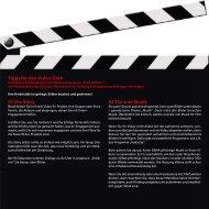 Tipps für den Video-Dreh - Kreissparkasse Esslingen-Nürtingen